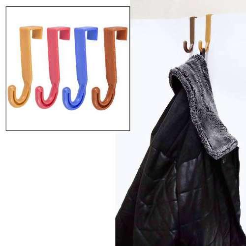 Kapı Arkası Pratik 4 Lü Askı Mutfak Banyo Havlu Bornoz Şapka Pantolon Şemsiye Elbise Askısı Askılık