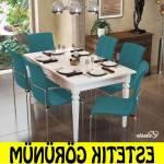 Yemek Masası Takımı 6 Kişilik Masa Takımı Seti Çok Amaçlı 6 Kişilik Masa Takımı Seti