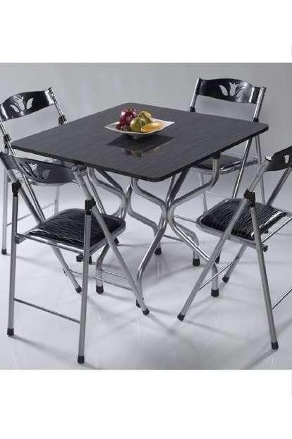 Katlanır Yemek Masası Masa Sandalye Seti 5107